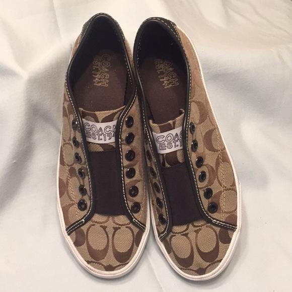 Coach Est 941 Slip On Canvas Shoes